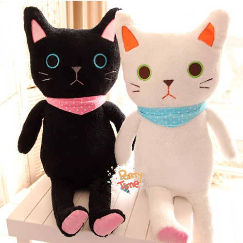 Lolita peluche Kitty 85 cm mignon doux en peluche chat Couple Kitty princesse douce poupée Loppy Kitty cadeau pour enfants