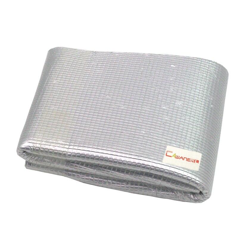 Cawanerl 400 CM X 100 CM feuille d'aluminium voiture insonorisation bouclier thermique tapis d'isolation tapis de blocage Deadener - 3