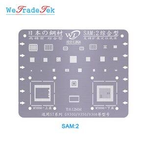 Image 5 - Поглащающей нагрузкой для samsung S6 S6 + S8 S8 + S7 S9 S9 + Примечание C7 J3 J5 A5 0,12 мм Толщина BGA реболлинг набор трафаретов оловянной сетки шаблон припой