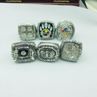 Drop shipping High Quality for US businssman 1975 1975 1978 1979 2005 2008 Steelers championship rings set