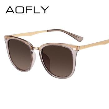 AOFLY Gafas de sol polarizadas de la Manera de Mujeres de la Vendimia  Diseñador de la Marca de Fábrica Accesorios del Gafas de las Cortinas de  Conducción ... 51d93d6f258a