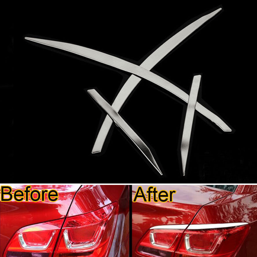 Chrome Car Styling Rear Tail Light Cover Trim Lamp Eyebrow Decor Molding For Chevys Chevrolet Cruze 2009-2014 15 Car Accessories