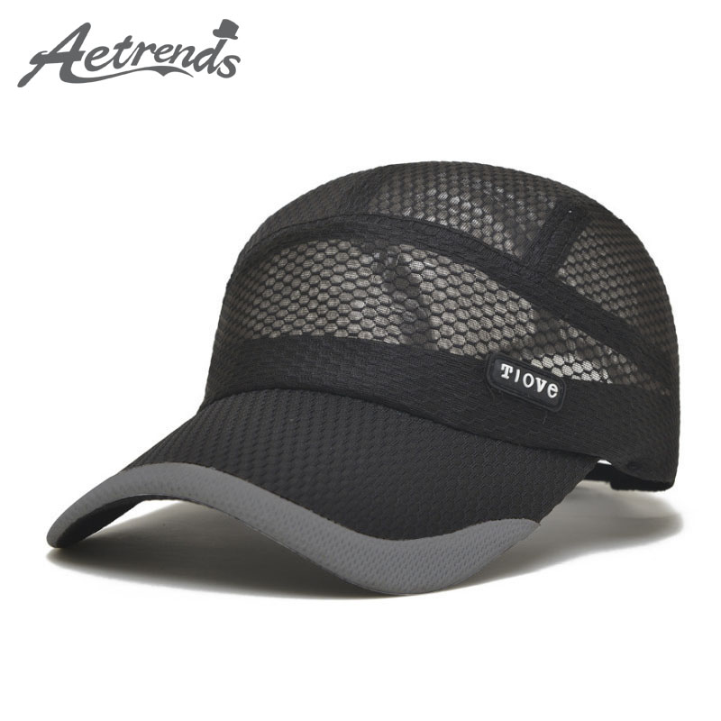 [AETRENDS] 2017 Summer Breathe Freely Mesh Baseball Cap Men Hats Bone Cap with 4 Colors  ...