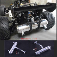 aluminum double hole increase power exhaust pipe tuned pipe for 1/5 Scale HPI KM ROVAN BAJA 5B 5T 5SC