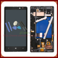 Display lcd tela touch screen digitador assembléia com frame para o nokia lumia 930 preto/prata + ferramentas freeshipping