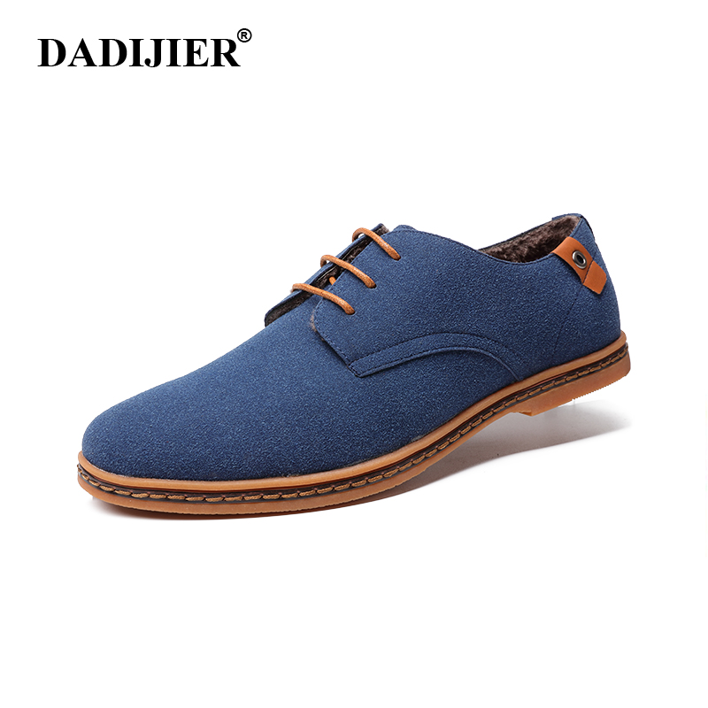 DADIJIER Men Boots 2018 New Fashion Suede Leather shoes Men Casual shoes oxfords for Spring Summer Winter Sneakers Dropshipping suede