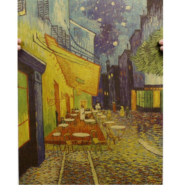 Claude Monet Van Gogh Famous Oil Painting kraft Paper Prints Modern ...