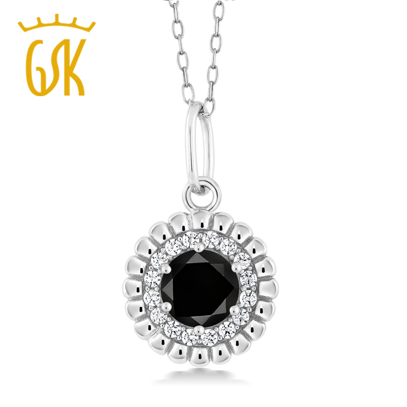 Gem stone king black diamond pendant necklace fashion women 925 gem stone king black diamond pendant necklace fashion women 925 sterling silver necklace fine jewelry in necklaces from jewelry accessories on aloadofball Image collections