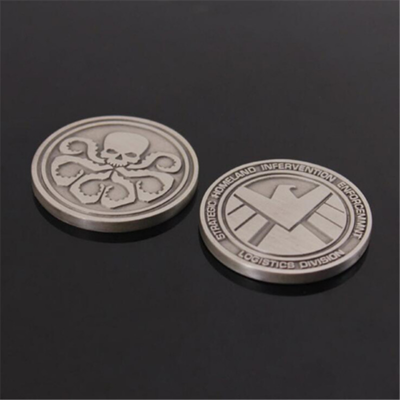 Gift Film-Shield Coins Commemorative-Coin Marvel Agent Collecting Around Alloy Quality
