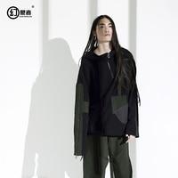 Оригинальные дизайнерские личность модный бренд негабаритных свободные ленты толстовка на молнии куртка с капюшоном цвет мужской