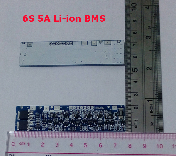 2PCS/a lot  6S 5A  lipo lithium Polymer BMS/PCM/PCB battery protection board for 6 Packs 18650 Li-ion Battery Cell