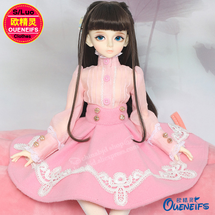 OUENEIFS free shipping Elegant dress,shirt,Pleated skirt,Elegant and noble,1/4 bjd sd doll clothes no doll or wig YF4-172