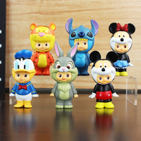 6pcs Set Kawaii Action Figure Toys Little Cute Animal Anime Figure Toy Kids Toys Dolls Lol