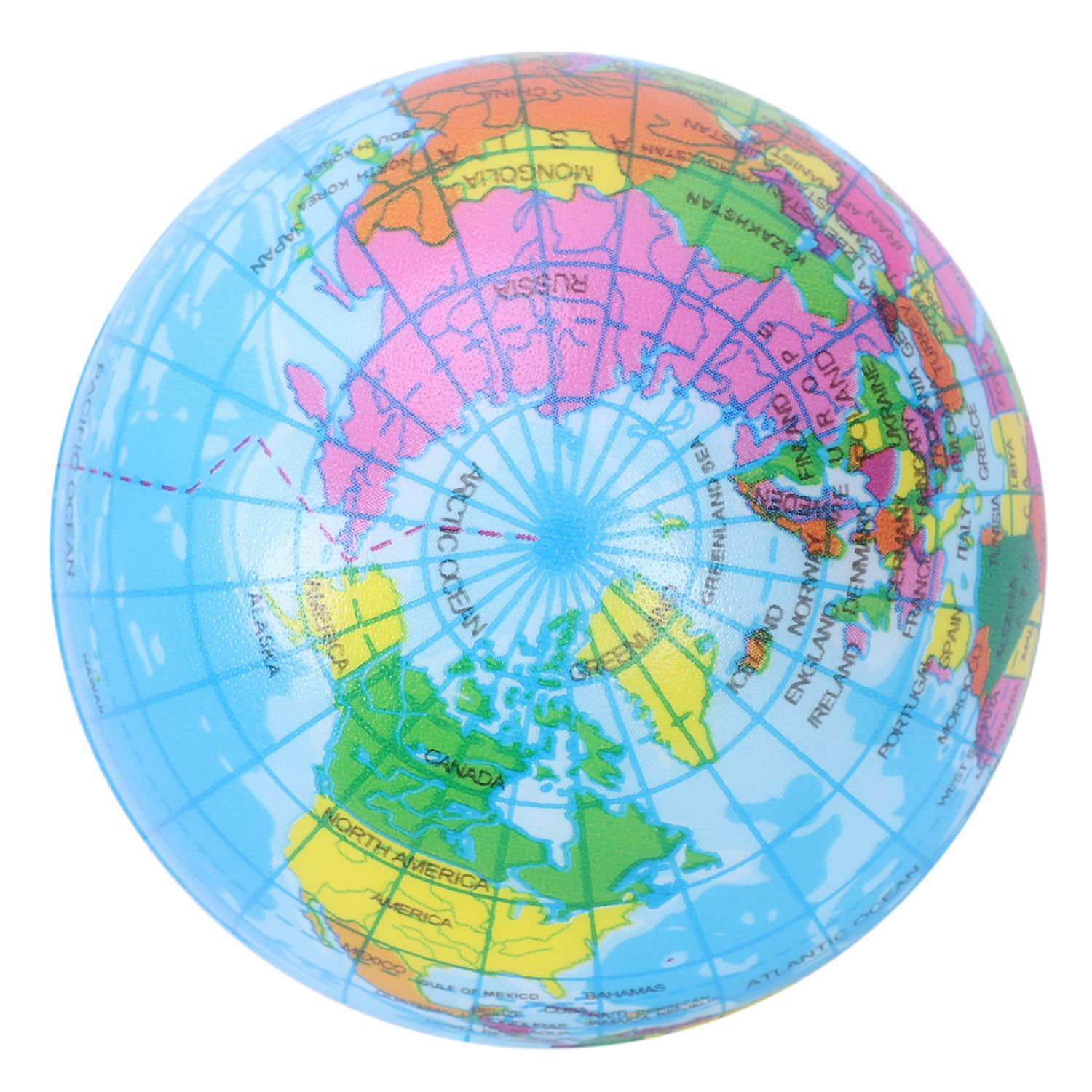 Mini Earth Globe Ball Foam Anti-stress Ball