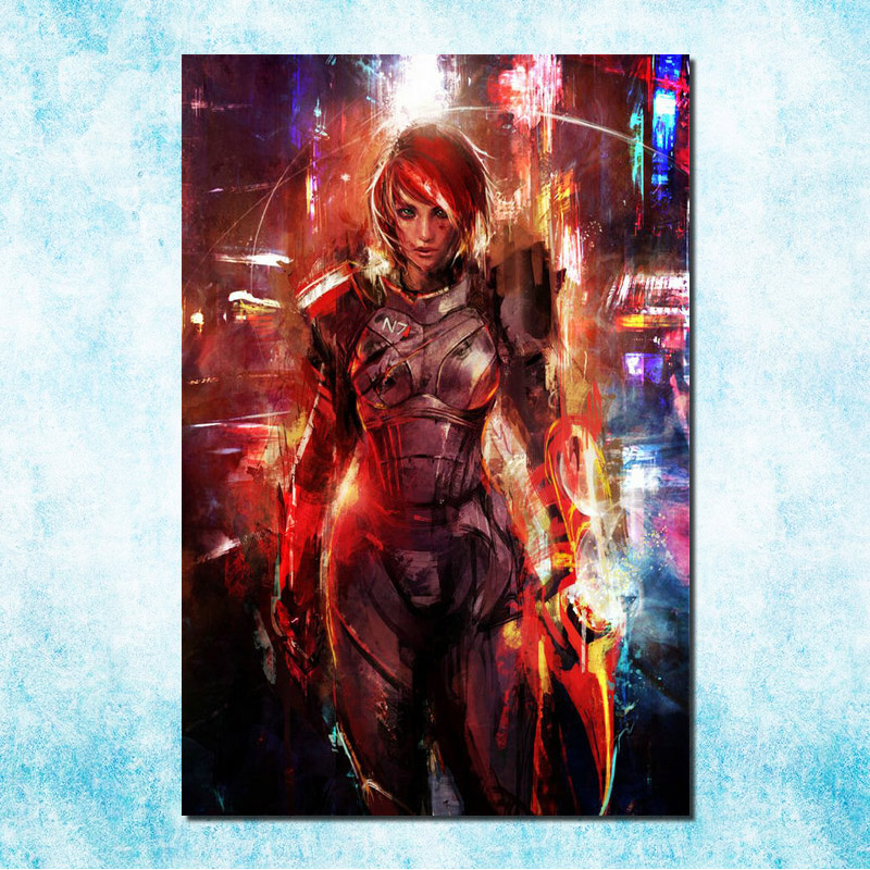 Mass Effect 2 3 4 Hot Shooting Action Game Art Silk Canvas Poster 13x20 inch Pictures For Living Room Decor (more)-9(China)