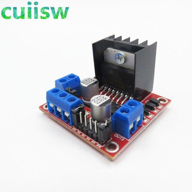 10pcs/lot New Dual H Bridge DC Stepper Motor Drive Controller Board Module L298N for arduino
