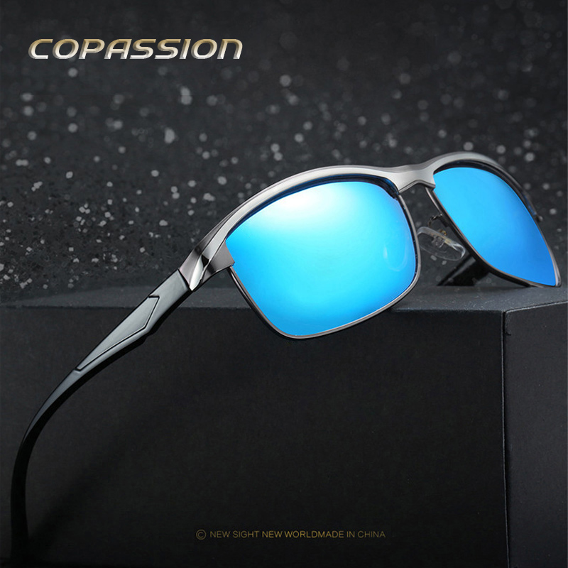Aluminum magnesium metal Polarized Sunglasses Men Luxury Brand Designer fishing sun glasses driving glasses uv400 oculos de sol