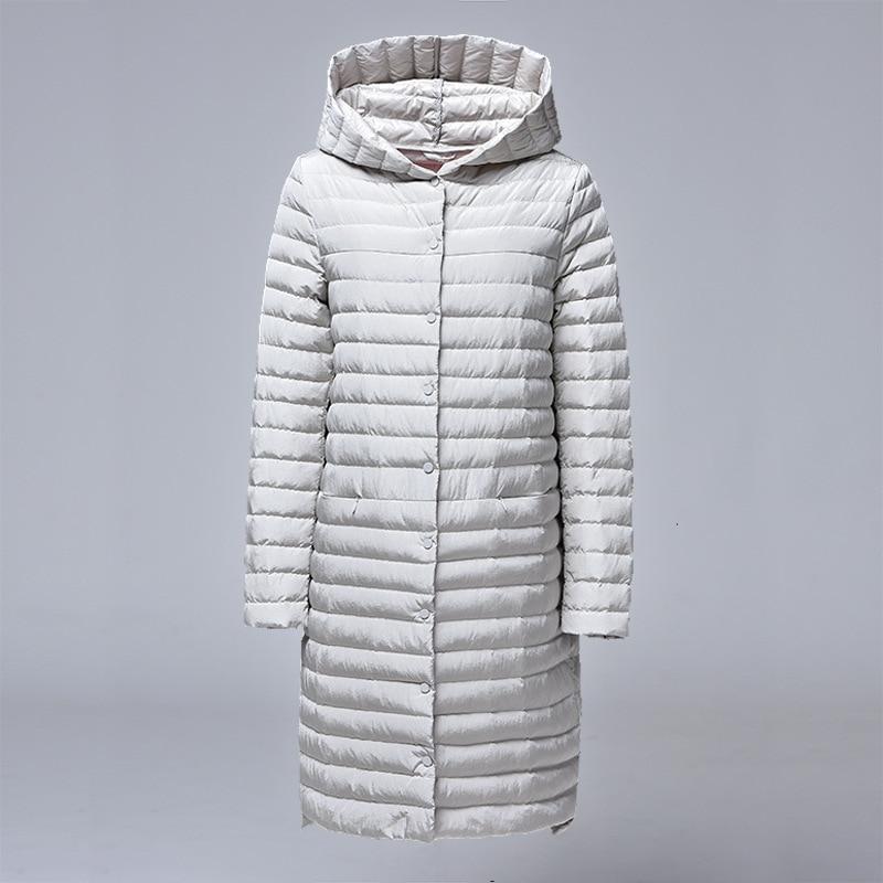 CIVICHIC S XXXXXL mujer luz chaqueta largo botones abrigo de invierno cálido con capucha edredón ropa de moda de DC532-in Plumíferos from Ropa de mujer    2