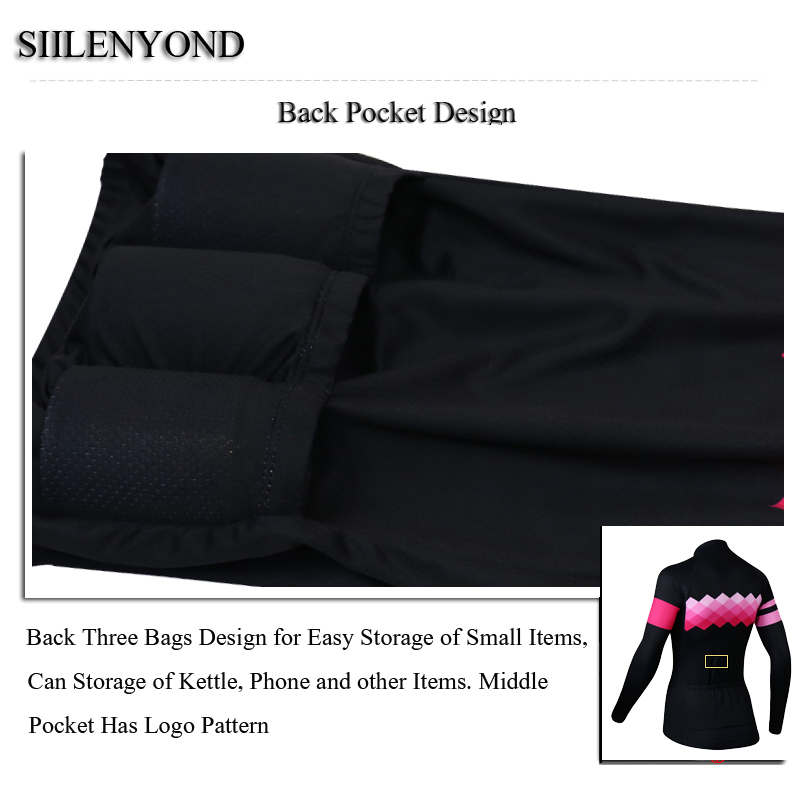 Siilenyond 2019 Pro Women Winter Thermal Cycling Jersey Long Sleeve Mountain Bike Cycling Clothing MTB Bicycle Cycling Clothes 4