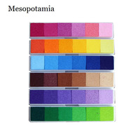 DIY Scrapbooking Albums Multicolor Candy 6 Gradient Color Ink Pad Rubber Stamp Fabric Inkpad For Decoration