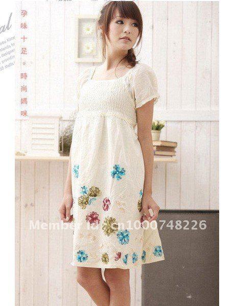 Maternity Dress, Fashion Cotton Pregnant Dress, Cotton ...