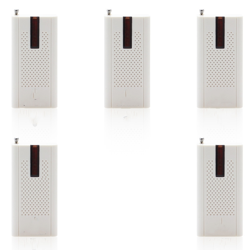 (5 PCS) Wireless Door Window Vibration Detector Shock Sensor For Home Alarm System with Antenna For Free Shipping