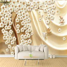 beibehang Custom photo wallpaper large mural wall stickers cash cow color carving 3D
