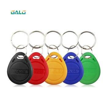 125khz 100 Uds llaveros RFID proximidad Tarjeta de Identificación Token Tags clave llaveros para RFID teclado lector de huellas dactilares cerradura de puerta