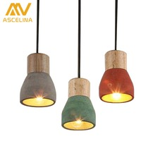 Simple Chandelier Lamps Dining Room Of New Cement Creative Personality Of Simple Single Solid Wood Small