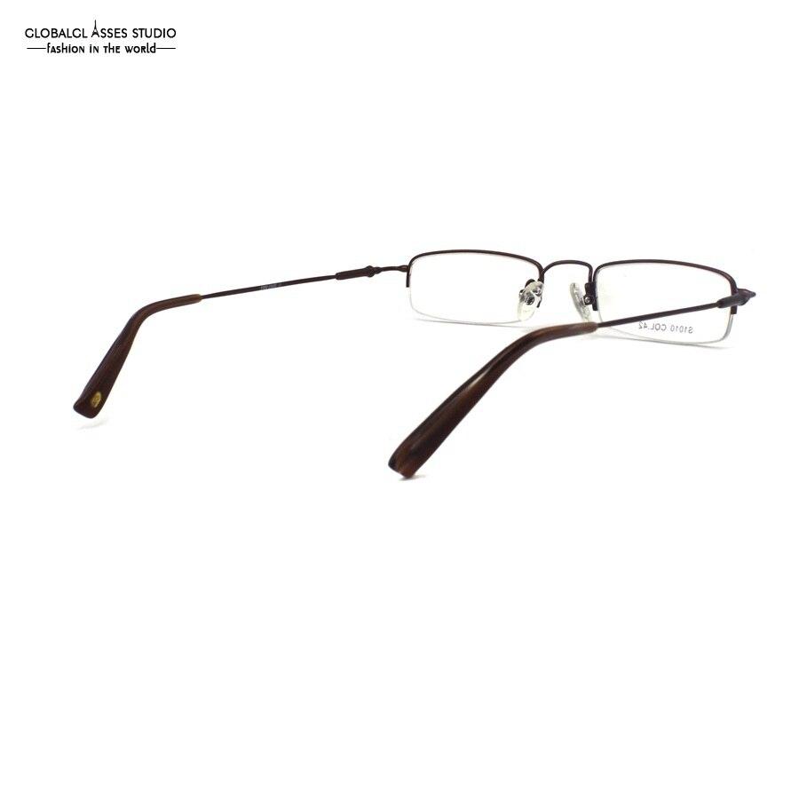 Elegante Kleine Form Rechteck Objektiv Halbrand Dünne Metall Brillen ...
