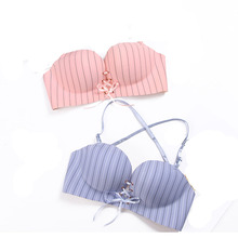 Fashion One piece seamless bra super push pull chest bandage strap color gather rope B cup LB for women 32 34 36 38 A
