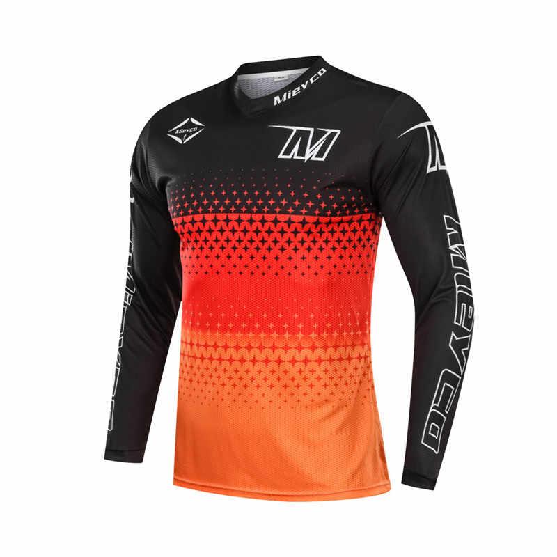 長袖オフロードダウンヒル Dh MX AM FR 服 Mtb サイクリングジャージオートバイモトクロスバイク Tシャツ Ropa Ciclismo