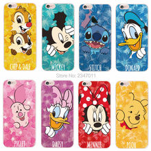 Minnie Mickey Cartoon Donald Duck Stitch Piglet Daisy Pooh Bear Characters Phone case For iPhone 4