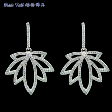 Full AAA Zirconia Leaf Earring Bridal Wedding Earrings Women Jewelry Accessories Gifts For Wedding Bridesmaid 0001
