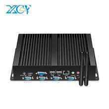 XCY промышленных Мини-ПК multi-серийный Порты 4xRS232 8xusb HDMI VGA WiFi Окна 7/8/10 Linux Прочный мини-компьютер 12 В