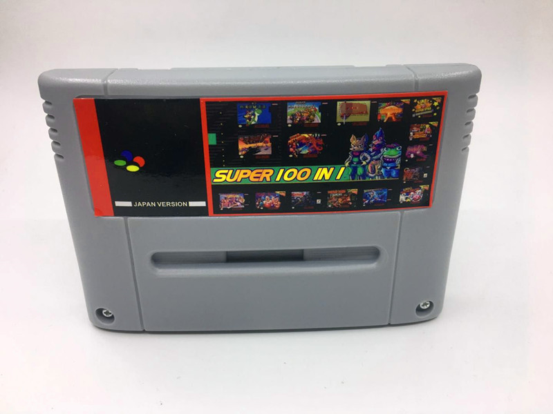Super 100 In 1 Japan NTSC Game Cartridge Castlevania IV Contra III FINAL FANTASY I, II III IV VI