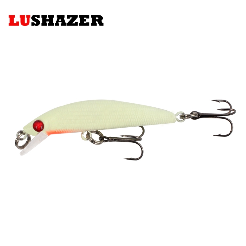 Lushazer minnow lure 4.4g 6cm fishing hard bait crankbait jerkbait carp  fish wobbler iscas artificiais angeln wobbler tackles lushazer fishing lure minnow bait 18g hard lures carp fishing iscas artificiais 2016 wobbler crankbait cheap sea fishing tackle