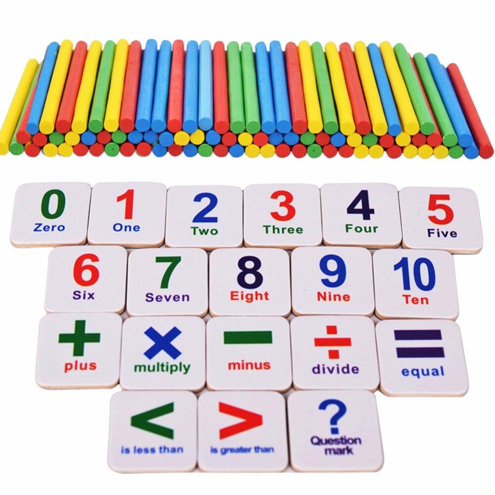 1 Set Houten Stokken Math Leren Speelgoed Magnetische Nummers Blokken Baby Wiskunde Tellen Kids Educatief Speelgoed Koelkastmagneet Vloeiende Circulatie En Pijn Stoppen