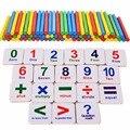 1 Unidades Palos De Madera Bloques Del Bebé de Juguete de Aprendizaje de Matemáticas Matemáticas Contar Números Magnéticos Educativos Niños Juguete Imán de Nevera
