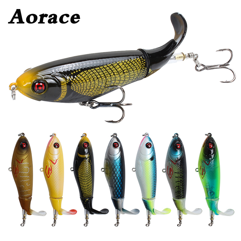 1PCS 10.5cm 17g Fishing Lure Topwater Lures Wobblers Crankbaits For Carp Fishing Plopper Artificial Crank Baits Rotating Tackle