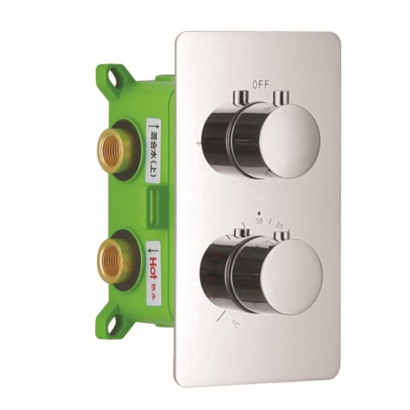 brass shower faucet mixing valve 2 ways chrome surface concealed shower mixer 2 handles get cheap 2 handle shower valve aliexpress
