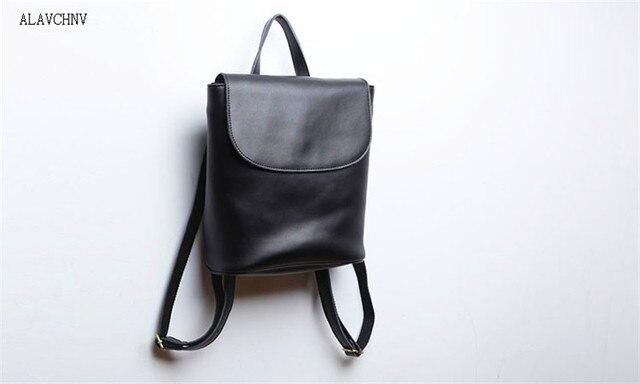 ALAVCHNV Women s leather backpack leather small bag Japanese art shoulder  bag 05 f9f66e6024