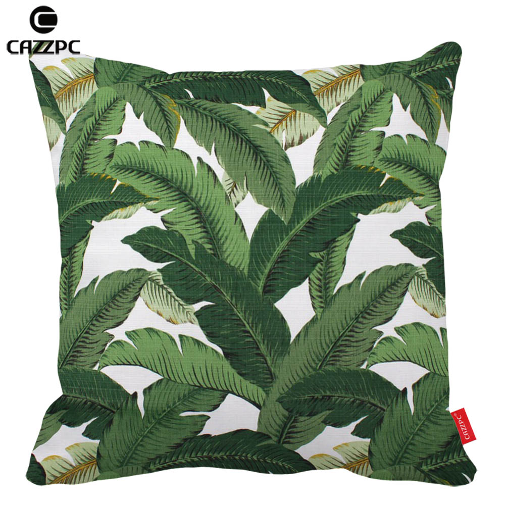 Hawaiian Garden Tropical banana Leaves Palm Leaf Print Car Decorative Pillowcase Pillow cases Cushion Covers Sofa Home Decor ...
