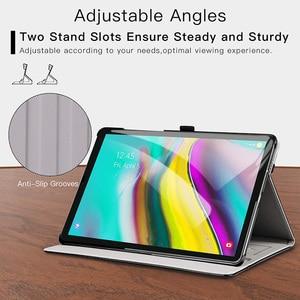 "Image 3 - AROITA מקרה עבור Samsung Galaxy Tab S5E 10.5 ""Tablet 2019, דגם SM T720/SM T725 פרימיום עור מפוצל Stand כיסוי עם רצועת יד"