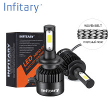 2Pcs Infitary Car Headllight H7 LED H4 LED Bulb H1 H3 H11 HB3 9005 9007 72W 8000LM 6500K Fog Light 12V Auto Headlamp Lamps(China)