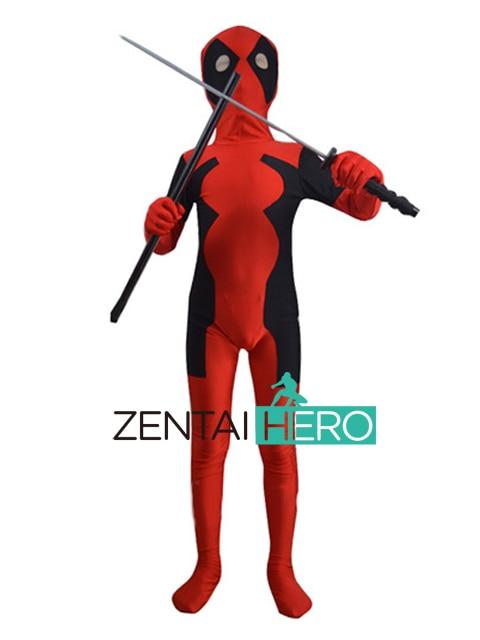 Livraison gratuite DHL nouveau Costume pour enfants Halloween enfant nouveau Hot Deadpool Cosplay enfants super-héros Spiderman Costume DP1225