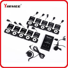 YARMEE VHF frequency Wireless Tour Guide System 60m Operating Range 2 Transmitter+30 Receivers+Charger Case for Tour guiding