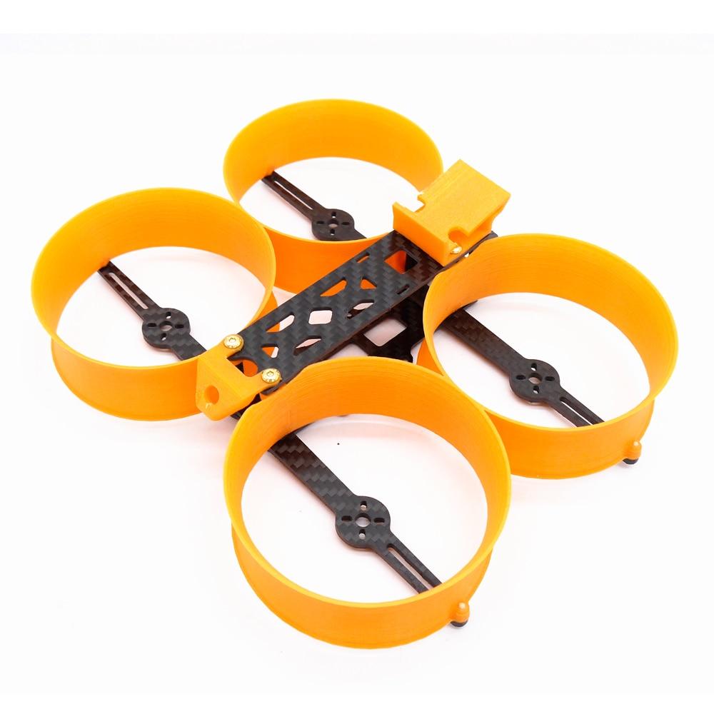 Beignet 140 140mm Kit de cadre 3 pouces Mini Drone H Type cadre avec garde Prop compatible avec 1306 1407 moteurs pour bricolage RC FPV Racing