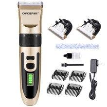 Profesyonel Elektrikli Saç Düzeltici Şarj Edilebilir Saç Kesme Makinesi Erkekler Sakal Tıraş 18650 Lityum Pil Kuaför Saç Kesme Makinesi