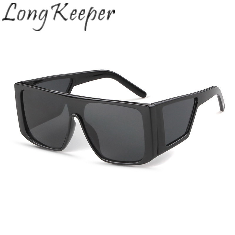 Long Keeper Sunglasses Women Men Square Sun Glasses Pc Big Frame Eyewear Eyeglasses Spectacles Hd Lens Uv400 Shade Fashion Drive Women's Sunglasses